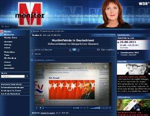Screenshot Website von monitor