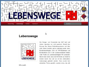 Screenshot Lebenswege Blog.